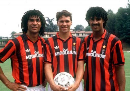 Rijkaard - Van Basteen - Gullit - Milan - La liga italiana de los 80
