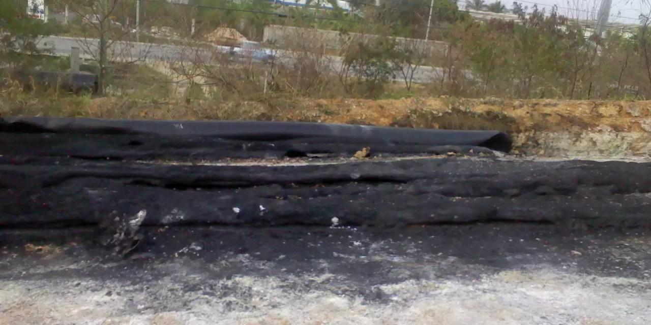 ¿Por qué queman los tubos del acueducto en construcción de la zona oriental?