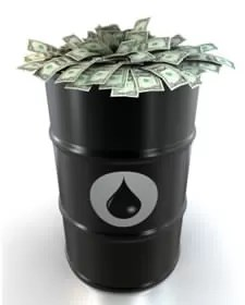 Petróleo baja casi 10 dólares