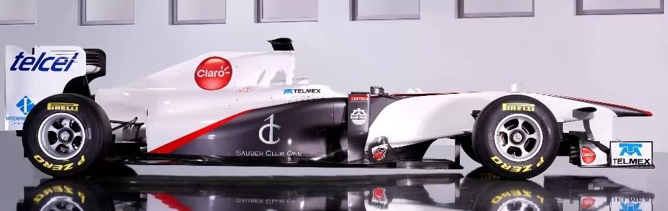 Claro, Telmex y Telcel de América Móvil se unen al Sauber C-30 Ferrari de Fórmula 1