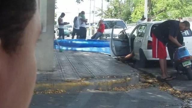 Imágenes: Calles de Santo Domingo transformadas en balnearios improvisados