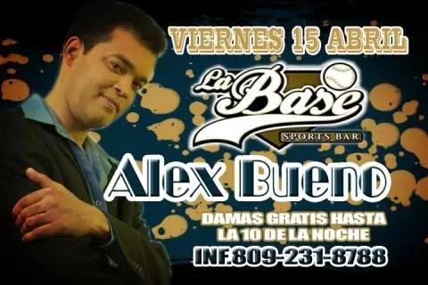 Alex Bueno se presenta este viernes 15 en La Base Sport Bar