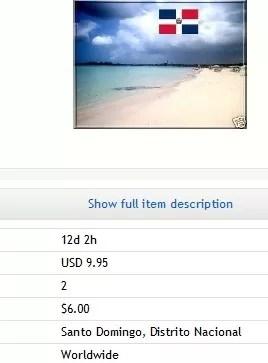 Vende a través de Ebay arena de la playa de Boca Chica