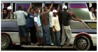 Muy abusivo aumento tarifa del transporte en estos tiempos Navideños