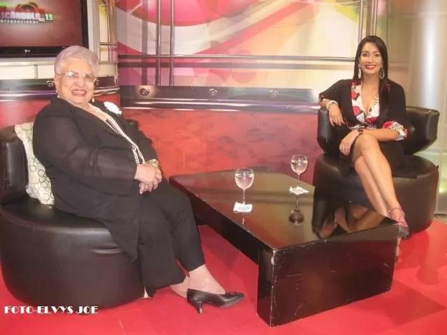 María Cristina Camilo  dice que  la mayoría  de los presentadores que están en la TV les hace falta preparación