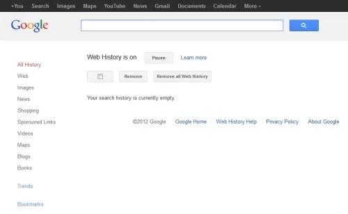 Borra tu historial de búsquedas de Google