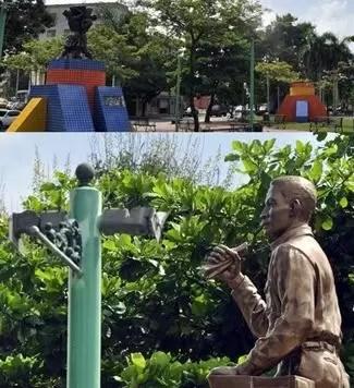 Se robaron las 120 lamparas de la plaza Mauricio Báez