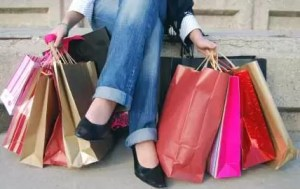 mujer compras