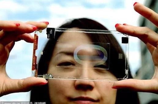 Presentan el primer celular totalmente transparente