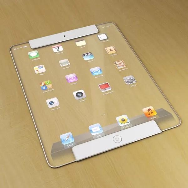 ¿Qué tal si el próximo iPad fuera totalmente transparente? [Concepto]
