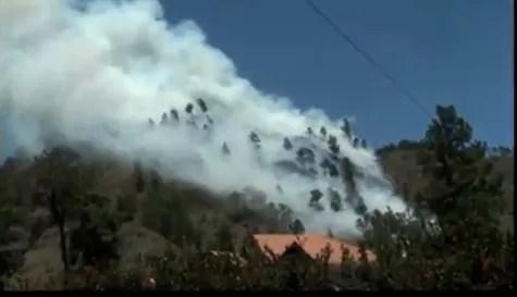 Video : Fuego que consumió 50 tareas en una montaña de Constanza