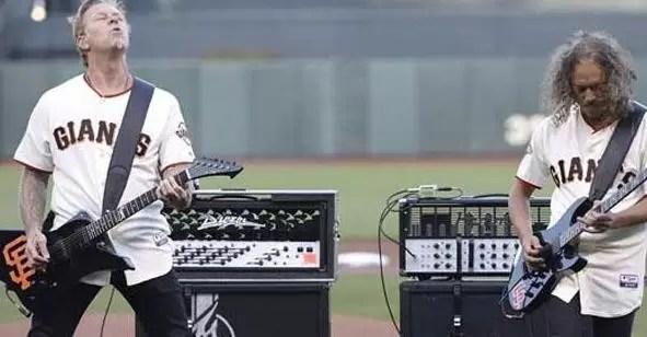 Metallica tocó el himno de los Estados Unidos en partido de MLB