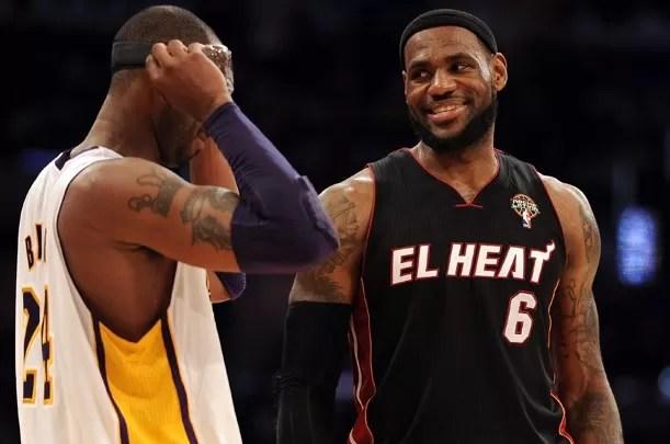 """LeBron James """"le come los caramelitos"""" a Kobe"""