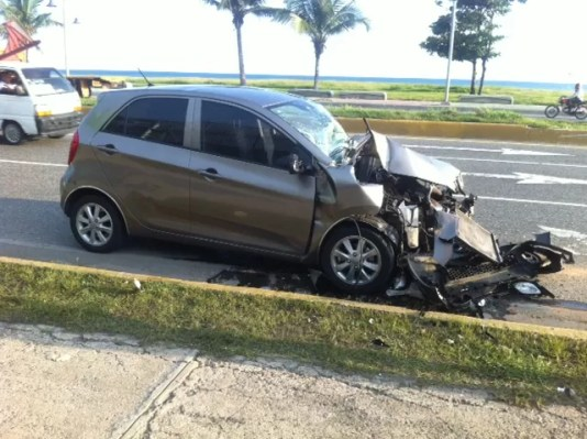 kia picanto accidente
