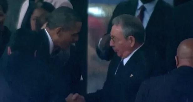 Obama y Raul Castro