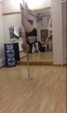 Bailarina talla XL sorprende con habilidad en el tubo (video)
