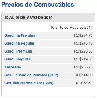 Congelan los precios de combustibles