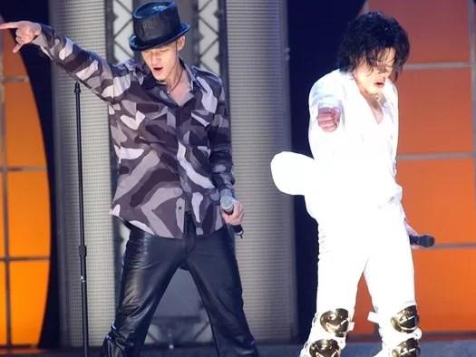 Michael Jackson junto a Justin Timberlake (Video)