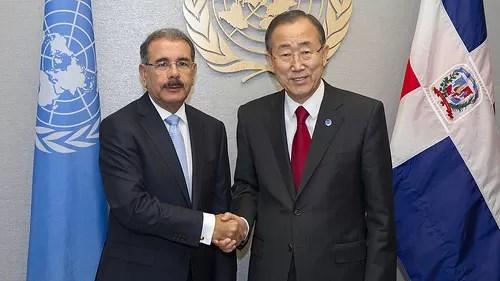 Danilo medina y Ban Ki-moon