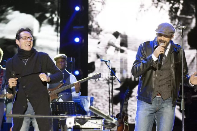 Juan Luis Guerra y Marc Anthony