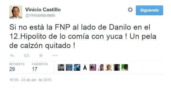 Vinicio castillo a Danilo