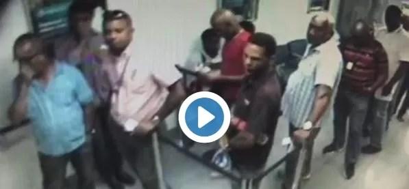 Video del asalto a una sucursal del Banco Popular