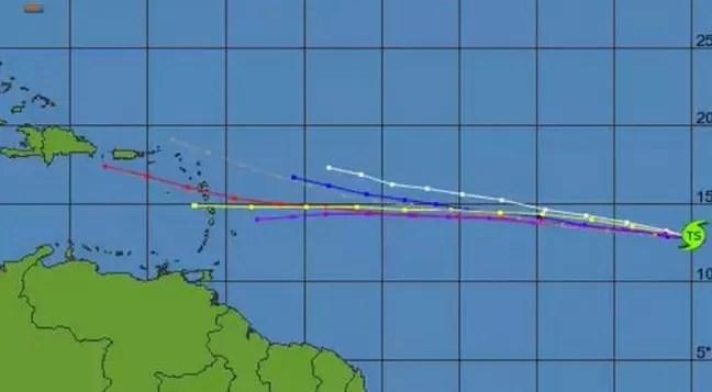 La Tormenta Tropical Grace se acerca a el Caribe