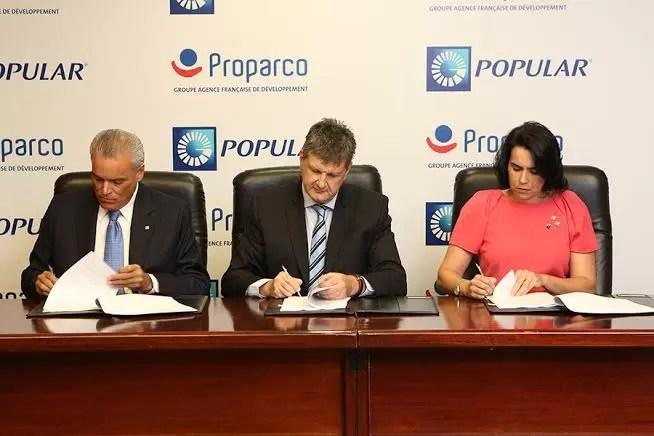 Banco Popular y PROPARCO acuerdan financiamiento por US$30MM