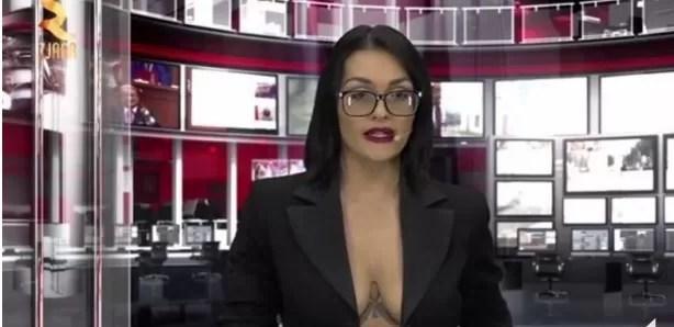 La TV albanesa hace negocio con los escotes