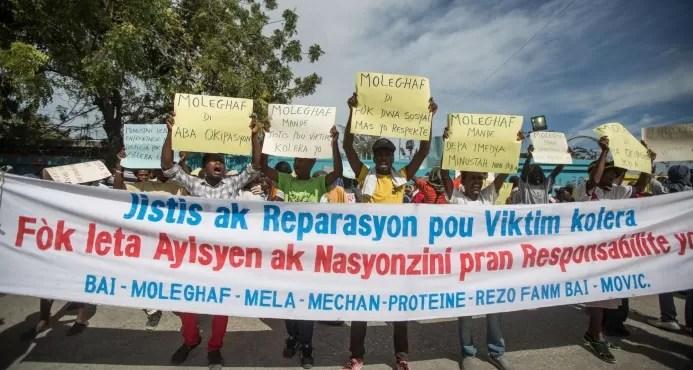 La ONU evita comentarios sobre protesta de víctimas de cólera en Haití