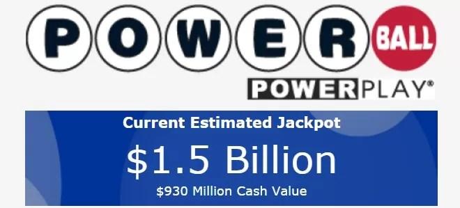 El Poweball se sortea este miércoles con más de 1,500 millones de dólares