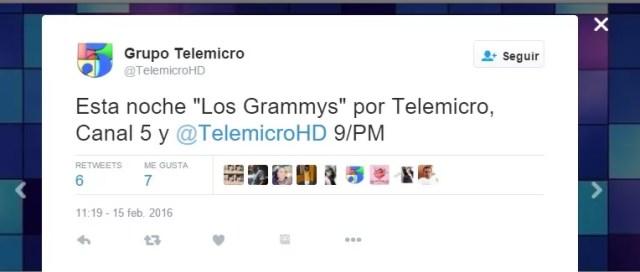 Grammy 2016 en vivo