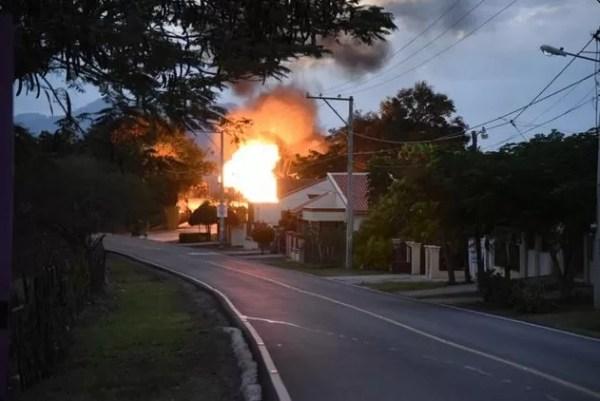 Incendio planta de gas