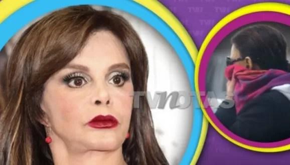 Se le caen los dientes a la actriz mexicana Lucía Méndez