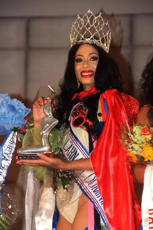 Miss Belleza de Carnaval, Thalía Morillo, luego de ser coronada Miss Belleza Carnaval 2016.