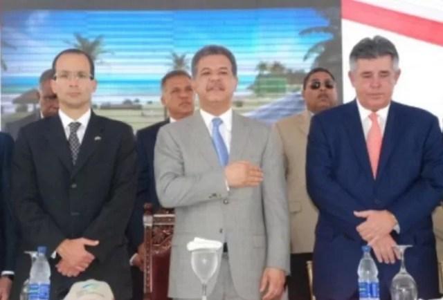 Marcelo Odebrecht, Leonel Fernández y Víctor  Díaz Rúa