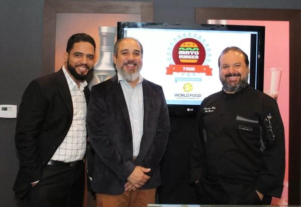 Equipo organizador (Manuel Méndez, Miguel Mejías y Leandro Díaz)