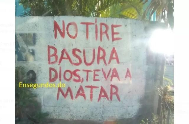 No tire basura