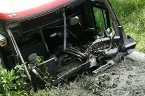Autobus accidente