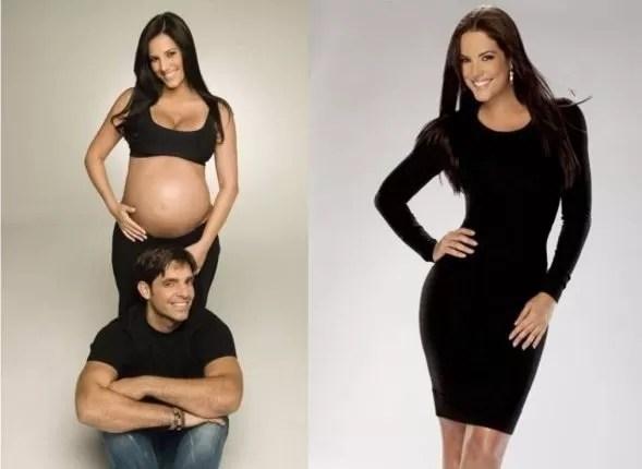 Gaby Espino antes y después del embarazo.