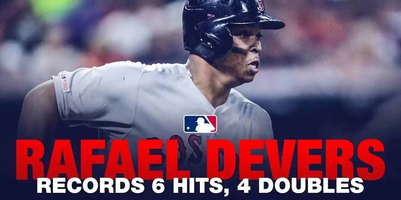 Video: Histórico: Rafael Devers da 6 hits, entre ellos 4 dobles