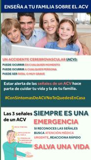Ensena a tu familia sobre el ACV