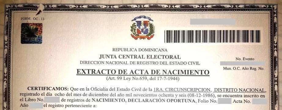 JCE, Gobierno y Registro Civil