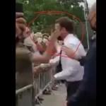 """Video – La """"galleta"""" que le dieron al presidente de Francia"""