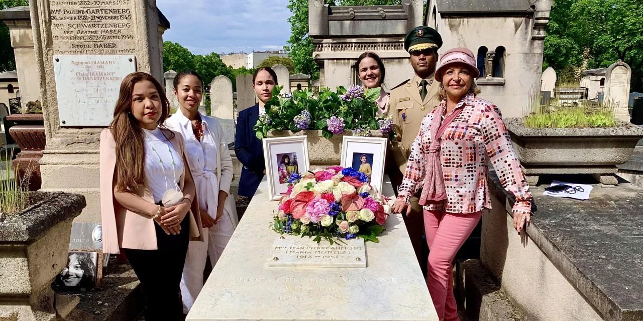 Embajada dominicana en Francia remoza tumba de María Montez