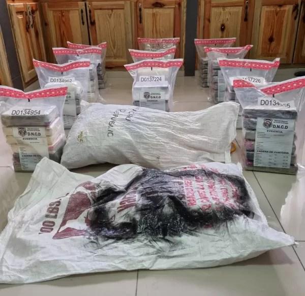 Otro palo al tráfico de drogas: 66 paquetes de cocaína ocupados en Samaná