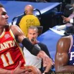 Hawks se desinflan y los Sixers igualan la serie semifinal del Este 1-1