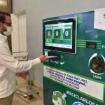 Instalan máquina receptora de envases en el AILA