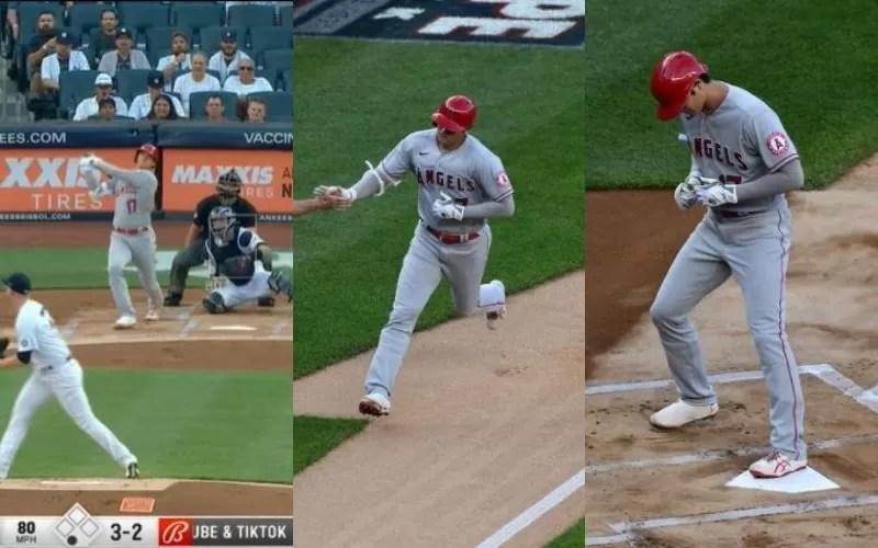 Shohei Ohtani pega jonrón ante los Yankees para igualar a Guerrero Jr.