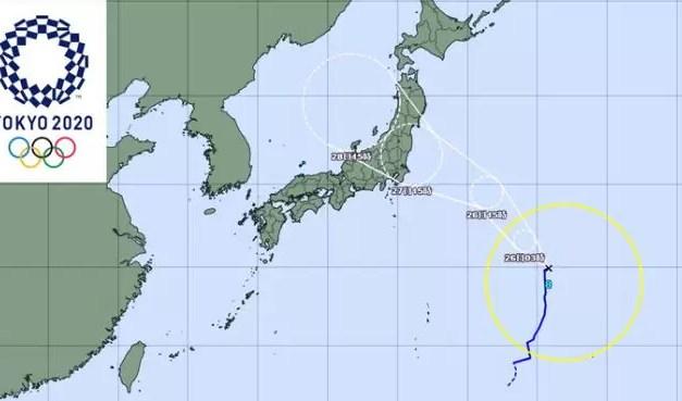 Tifón amenaza competencias en Tokio